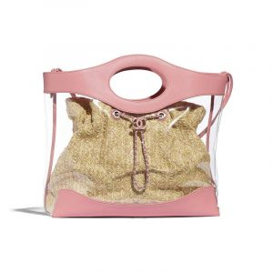 Chanel Pink PVC/Calfskin Shopping Bag