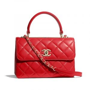 Chanel Red Trendy CC Small Top Handle Bag