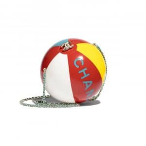 Chanel Red/Yellow/White/Turquoise Beach Ball Minaudiere Bag
