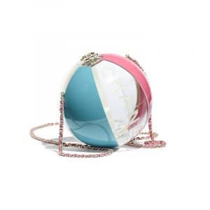 Chanel Turquoise/Pink/White/Transparent Beach Ball Minaudiere Bag