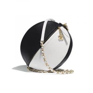 Chanel White/Black Calfskin Beach Ball Bag