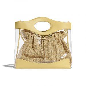 Chanel Yellow PVC/Calfskin Shopping Bag