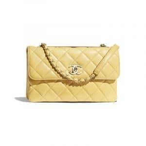 Chanel Yellow Trendy CC Flap Bag
