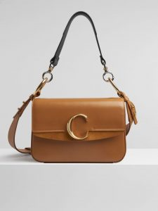 Chloe Autumnal Brown C Small Double Carry Bag