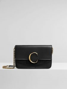 Chloe Black C Clutch with Chain Bag