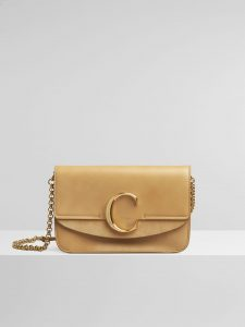 Chloe Bleached Brown C Clutch with Chain Bag