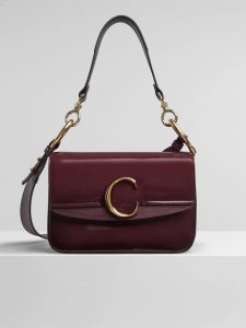 Chloe Burnt Brown Spazzolato Sfumato C Small Double Carry Bag