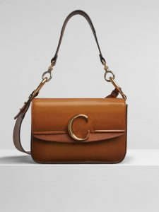 Chloe Caramel Spazzolato Sfumato C Small Double Carry Bag