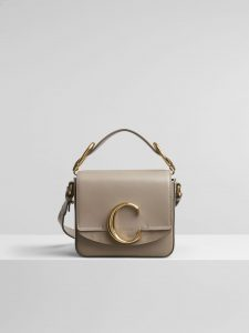 Chloe Motty Grey C Mini Bag