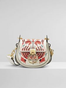 Chloe Natural White Artistic Print Tess Small Bag