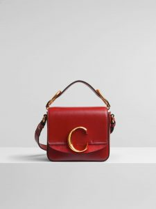 Chloe Plaid Red C Mini Bag