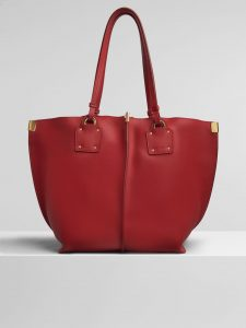 Chloe Plaid Red Vick Medium Tote Bag