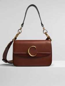 Chloe Sepia Brown C Small Double Carry Bag
