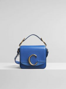 Chloe Smoky Blue C Mini Bag