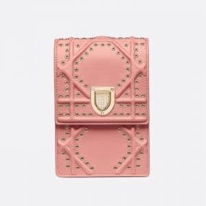 b67a1448c87 ... Dior Sugar Pink Diorama Vertical Clutch Bag ...