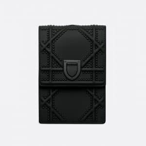 Dior Ultra Black Diorama Vertical Clutch Bag