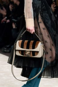 Fendi Beige Pequin Flap Bag - Fall 2019