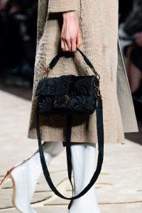 Fendi Black Floral Baguette Bag - Fall 2019