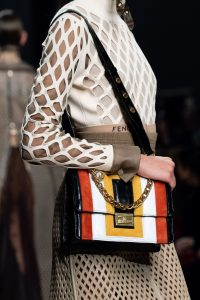 Fendi Black/Multicolor Flap Bag - Fall 2019