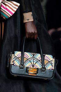 Fendi Black/Multicolor Printed Top Handle Bag - Fall 2019