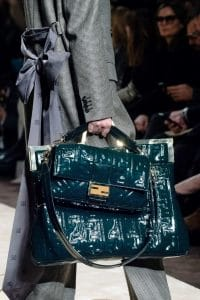 Fendi Blue Patent Baguette and Tote Bags - Fall 2019