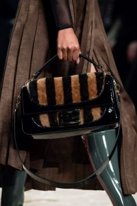 Fendi Brown/Black Pequin Flap Bag - Fall 2019