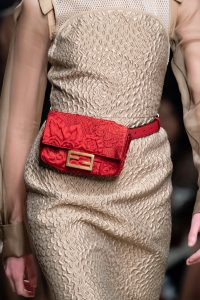 Fendi Red Floral Belt Bag - Fall 2019