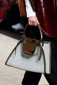 Fendi White/Brown Perforated Peekaboo Bag 2 - Fall 2019