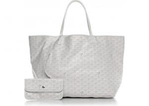 Goyard White Saint Louis GM Bag