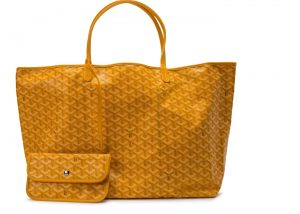 Goyard Yellow Saint Louis GM Bag