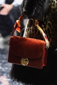 Gucci Red Suede Flap Bag - Fall 2019