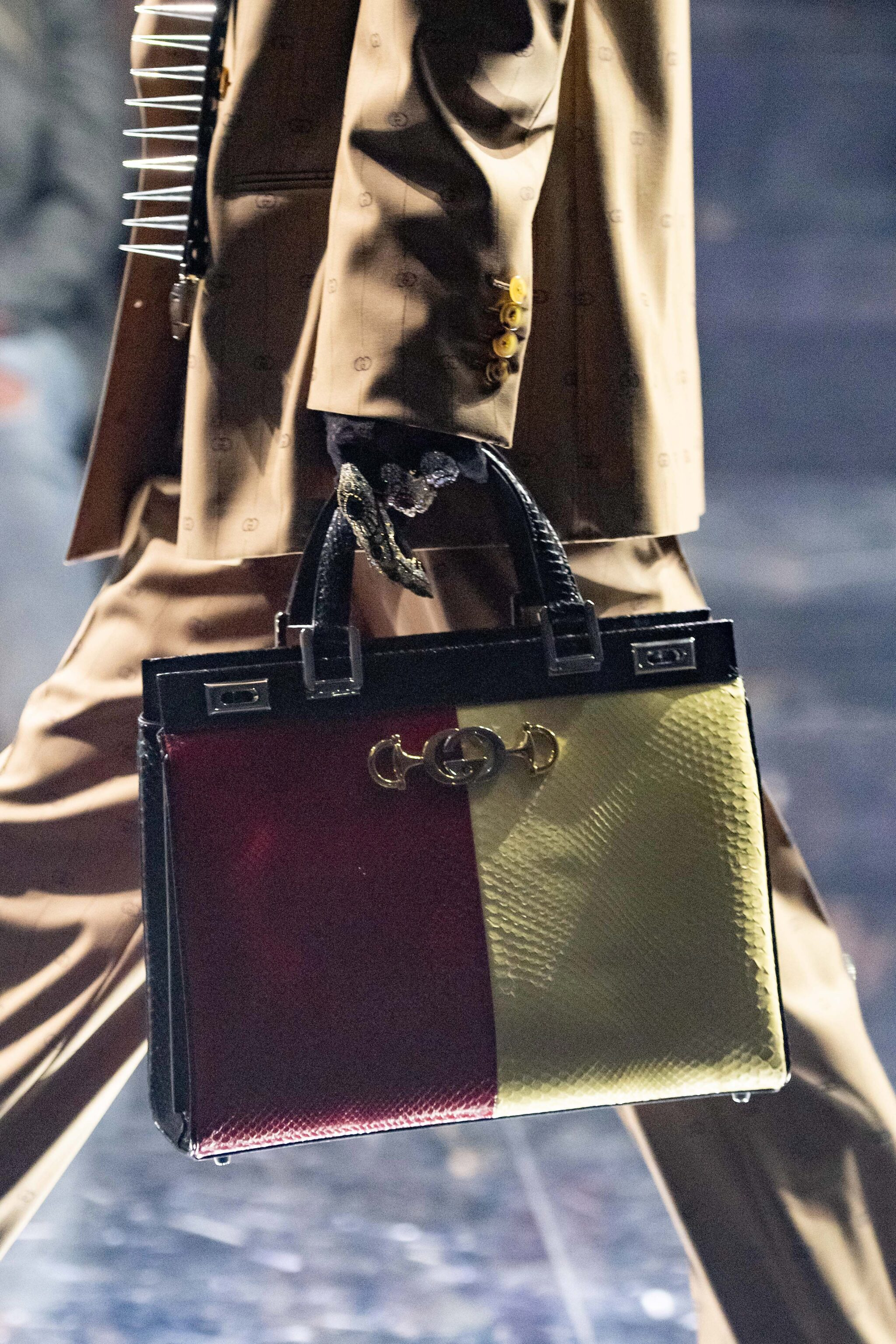 8d5a3914efc Gucci Red Yellow Python Zumi Top Handle Bag 2 - Fall 2019