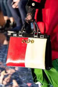 Gucci Red/Yellow Python Zumi Top Handle Bag - Fall 2019