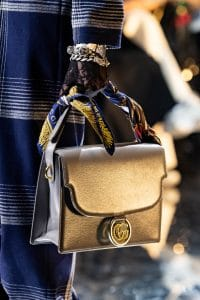 Gucci Silver Flap Bag - Fall 2019