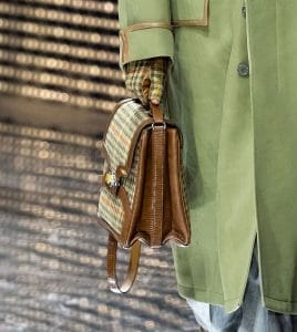 Gucci Tan Checkered Messenger Bag - Fall 2019