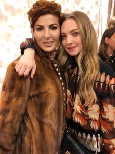 Penny Karabey with Amanda Seyfried - NYFW 2019