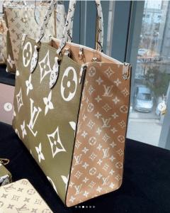Louis Vuitton Beige Monogram Geant Tote Bag