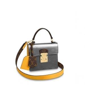 Louis Vuitton Bitume Métallisé Monogram Vernis Spring Street Bag