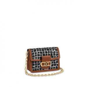 Louis Vuitton Black/Silver Tweed Dauphine Mini Bag