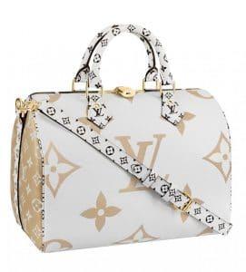 Louis Vuitton Blanc Monogram Geant Speedy Bandouliere Bag