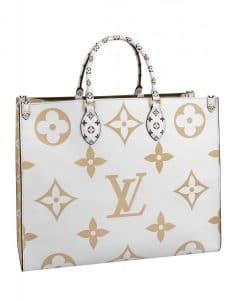 Louis Vuitton Blanc Monogram Geant Tote Bag