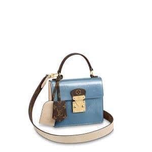 Louis Vuitton Bleu Jean Monogram Vernis Spring Street Bag