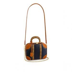 Louis Vuitton Blue Calfskin:Mongram Reverse Mini Luggage Bag