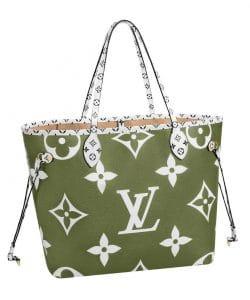 Louis Vuitton Green Monogram Geant Neverfull Bag