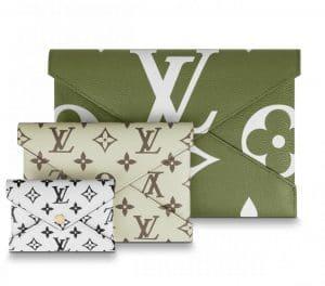 Louis Vuitton Green Monogram Geant Pochette Kirigami