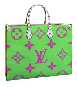 Louis Vuitton Green Monogram Geant Tote Bag