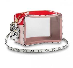Louis Vuitton Red Monogram Geant Beach Pouch Bag