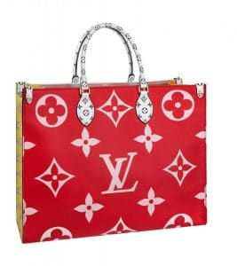 Louis Vuitton Red Monogram Geant Tote Bag