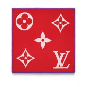 Louis Vuitton Rouge Monogram Geant Square