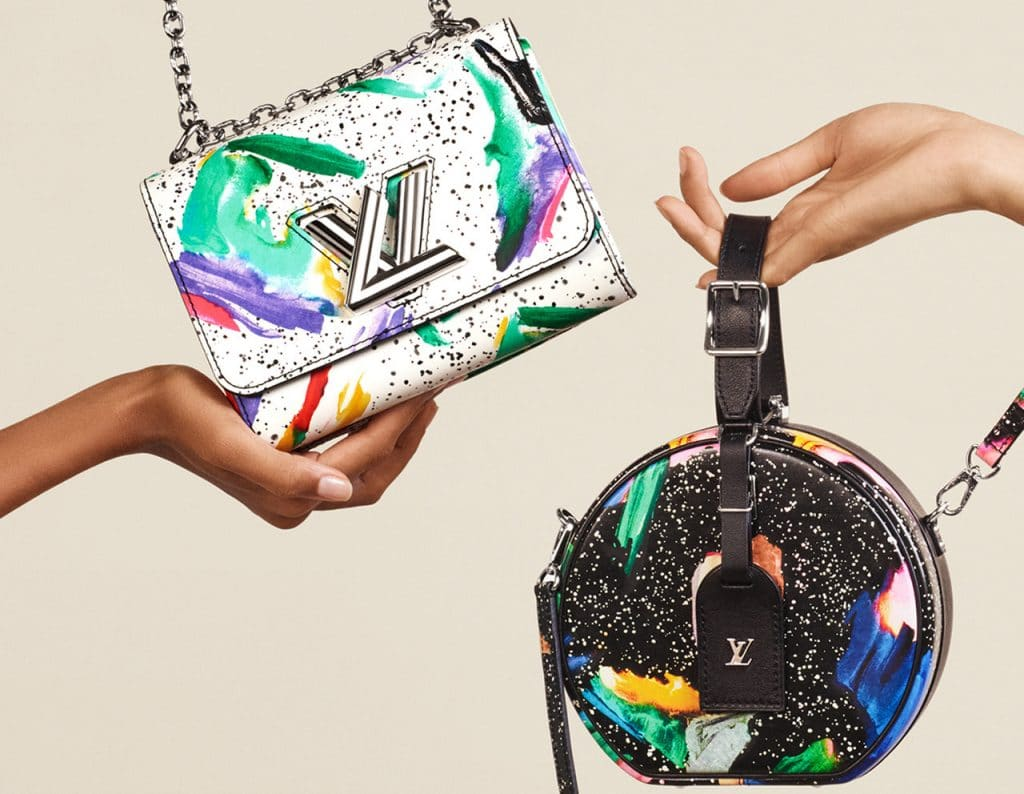 bb2169bc8723 Louis Vuitton Spring Summer 2019 Bag Collection Features Splash Prints